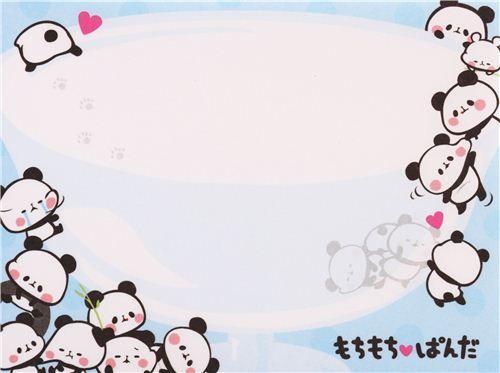 pink Mochi panda bowl mini Note Pad by Kamio from Japan 4