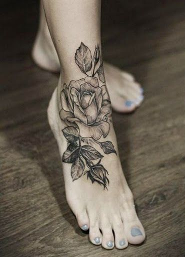 peony tattoo black and grey thigh - Google Search