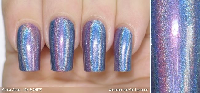 China Glaze - IDK & 2NITE, 1 coat each over H&M - You Rock My World   After my fruit salad nails I wanted to do another flashy mani. I st...