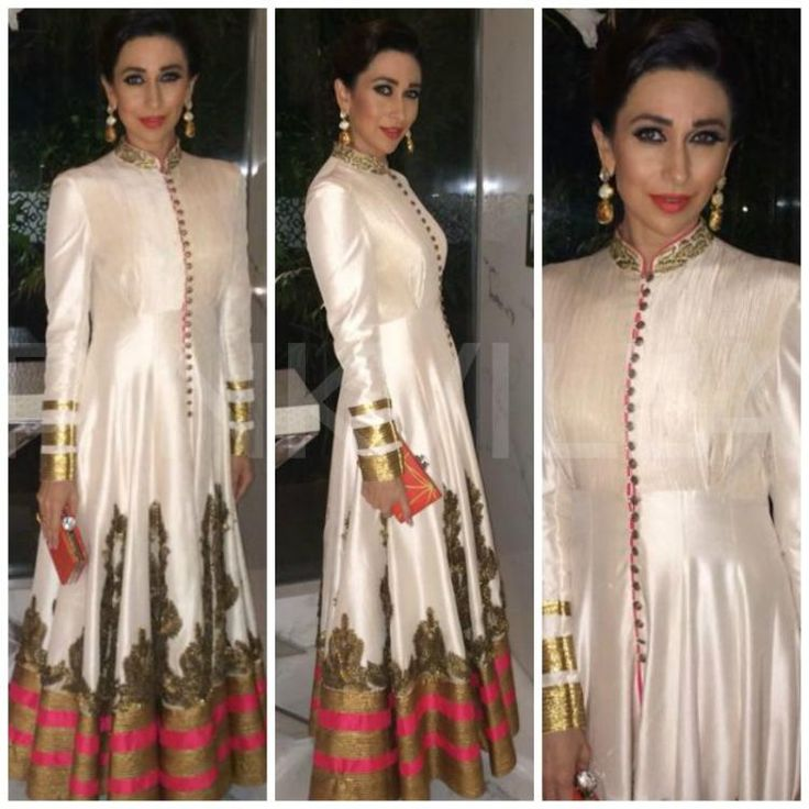 Karisma Kapoor attended an award ceremony in Delhi wearing a lovely Shantanu & Nikhil creation. She teamed this with jewellery from Curio Cottage...