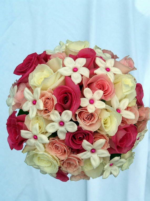 Rose and Stephanotis Bridal Bouquet, very pretty but I think I like the daisies :)