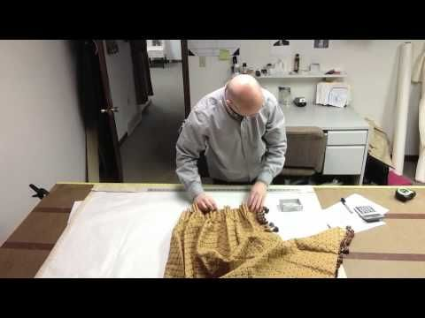 How To Make A Pinch Pleated Drape (Figuring Pleats And Spaces) - YouTube