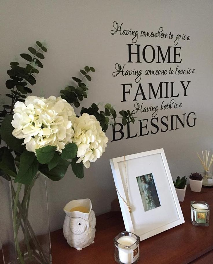 Home Family BlessingWall DecalDesigned to add a touch of home to your wallsMeasurements are approximately (H)77cm x (W)70cmWhat to expect: