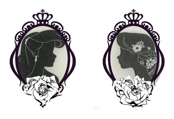 Ariel & Rapunzel tattoo. beautiful design! Disney Princesses