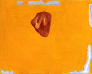 "Raoul de Keyser, ""Red Diamond"" (2006). Oil on canvas. 16 5/8""× 21"". © Raoul de Keyser. Courtesy David Zwirner, New York, and Zeno X Gallery, Antwerp."