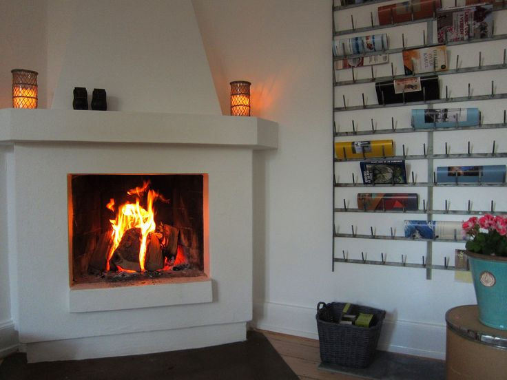 Fireplace at Villa Gress - new retreat for artists in Denmark.  Only 1,5 hours drive from Copenhagen.