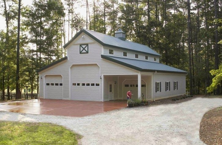 Metal barns with living quarters metal building homes for Barn plans with living area