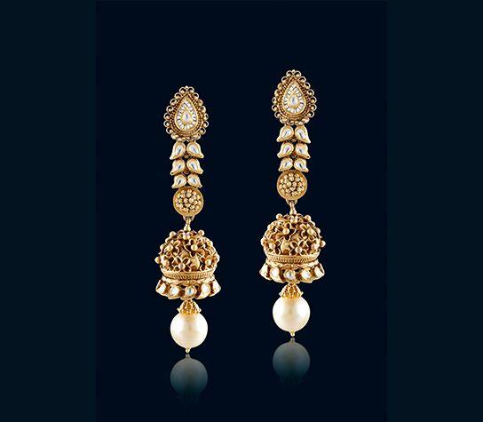 indian gold earrings designs
