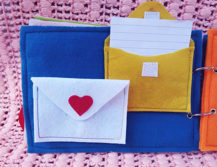 Activity 3 - Write a Love letter   * Writing skills * Refine motor skills ( put a note inside letter ) * Communication skills ( how to post a letter ) #busybook
