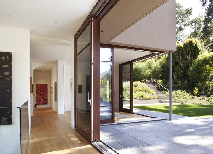 Contemporary Hallway with Bespoke Argon Filled Double Glazing Sliding Door, Carlisle Traditional Collection Wooden Spoon