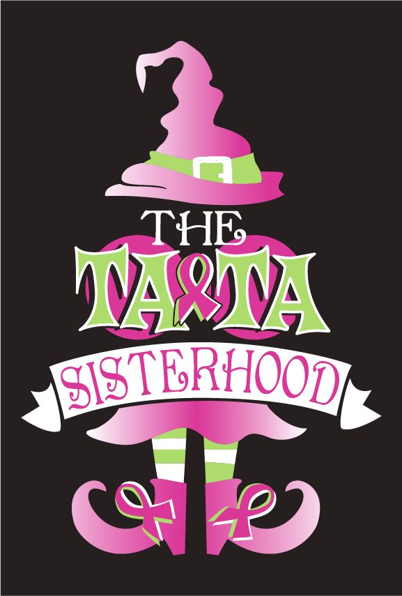 BACK BY POPULAR DEMAND- The Ta-Ta Sisterhood 2013 Team T-shirts! Fundraiser - shirt design - zoomed