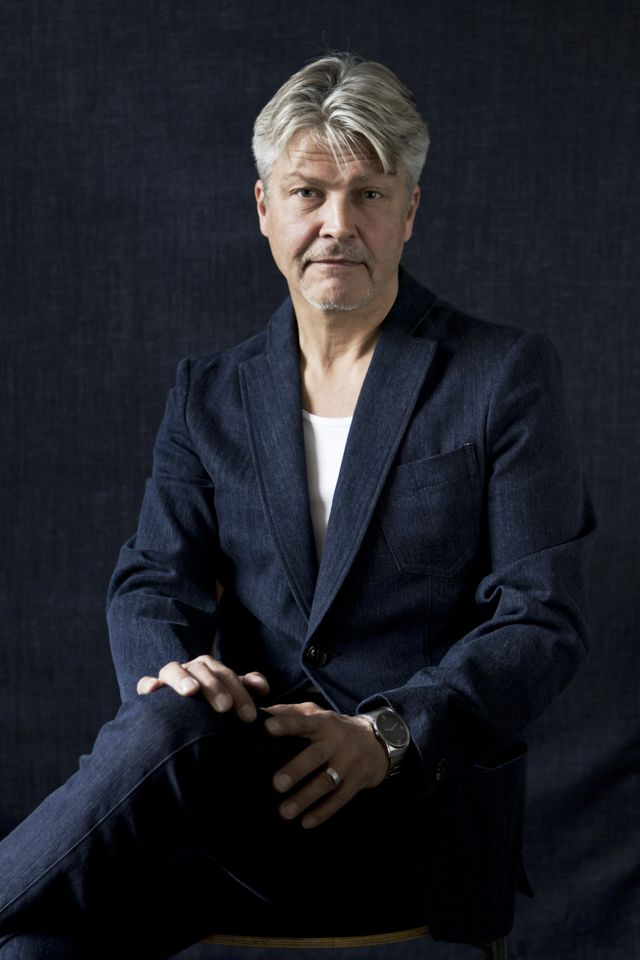 Architect Jussi Murole in #FRENN #denim #blazer and #denim #trousers combined with #bamboo #t-shirt