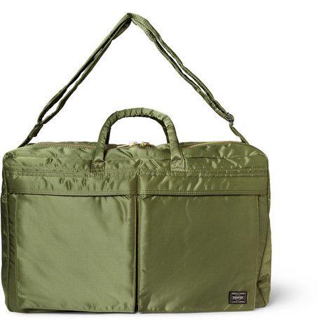 Porter Yoshida Kaban Tanker Quilted Satin-Canvas Holdall Bag