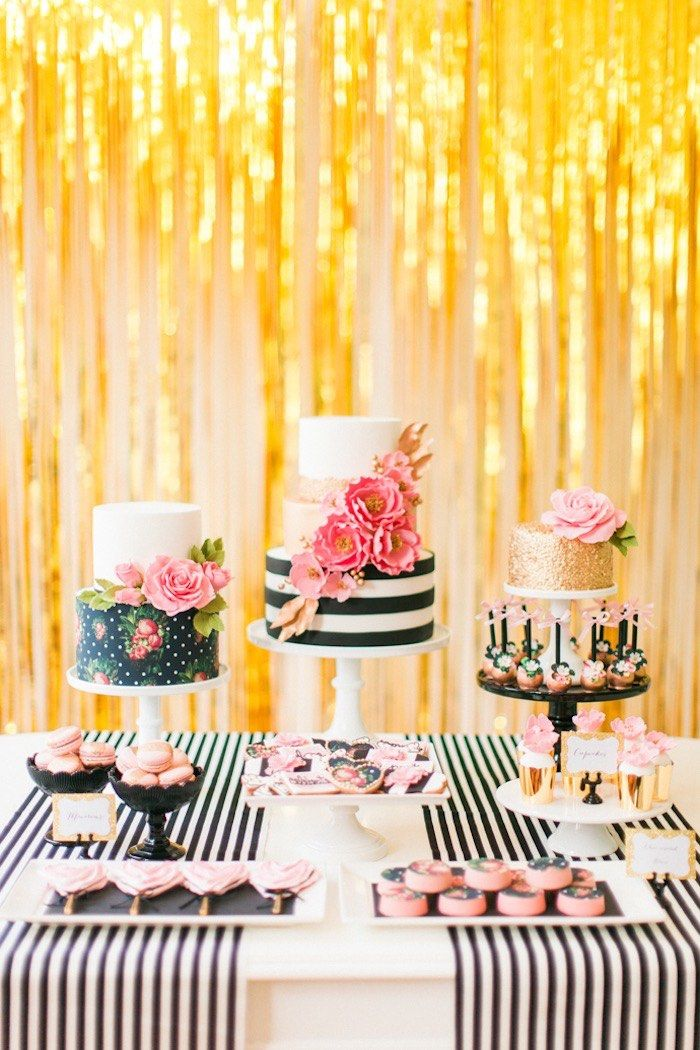 inspiration ideas for 9 year old birthday party at home. Modern Glam Kate Spade Birthday Party via Kara s Ideas  KarasPartyIdeas com 16 144 best images on Pinterest