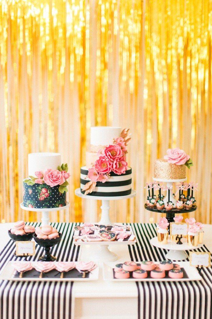 Modern Glam Kate Spade Birthday Party via Kara's Party Ideas   KarasPartyIdeas.com (16)