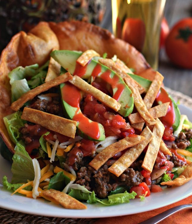 12 Salad Recipes So Good, You'll Forget They're Good FOR You   Brit + Co. (Taco Salad, shown). » YUM!