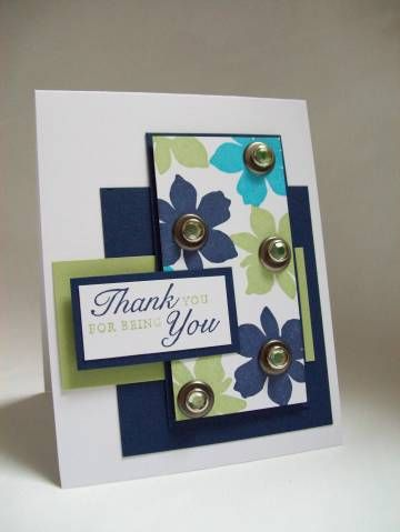 "Beautiful ""Thank You"" Card...sparklegirl: Cards & Paper Crafts at Splitcoaststampers."