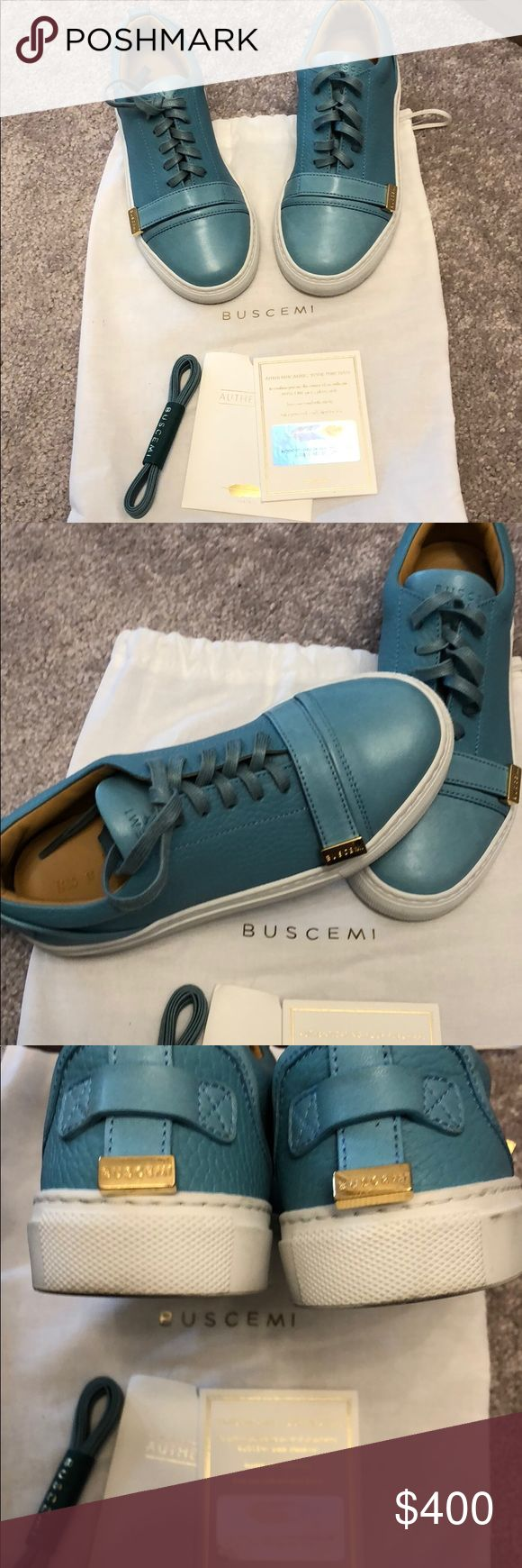 Kids baby blue Buscemi Worn 2 times. No box but I do have dust bag. Bought in Soho nyc Buscemi Shoes Sneakers