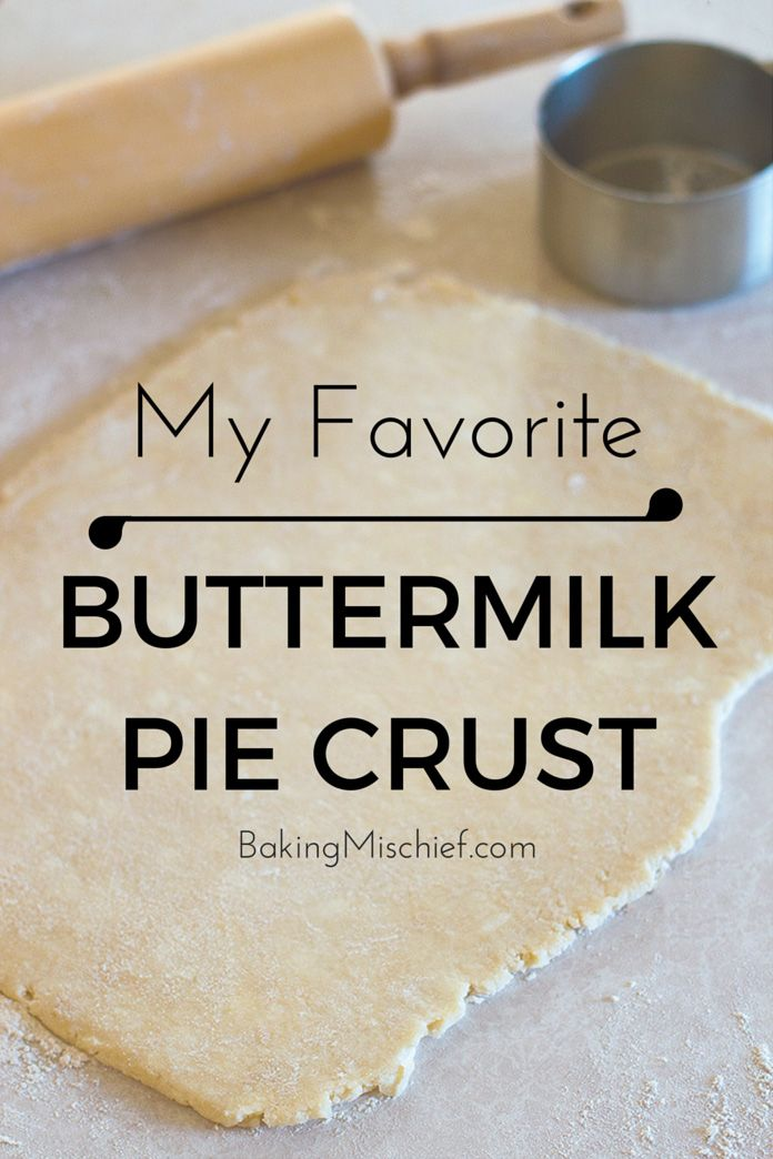 My favorite flaky, delicious buttermilk pie crust (made with a food processor). This is seriously the easiest pie dough you will ever make or work with! From BakingMischief.com