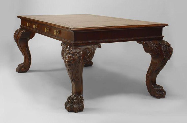 English Irish Georgian Style 19th Cent Mahogany Table