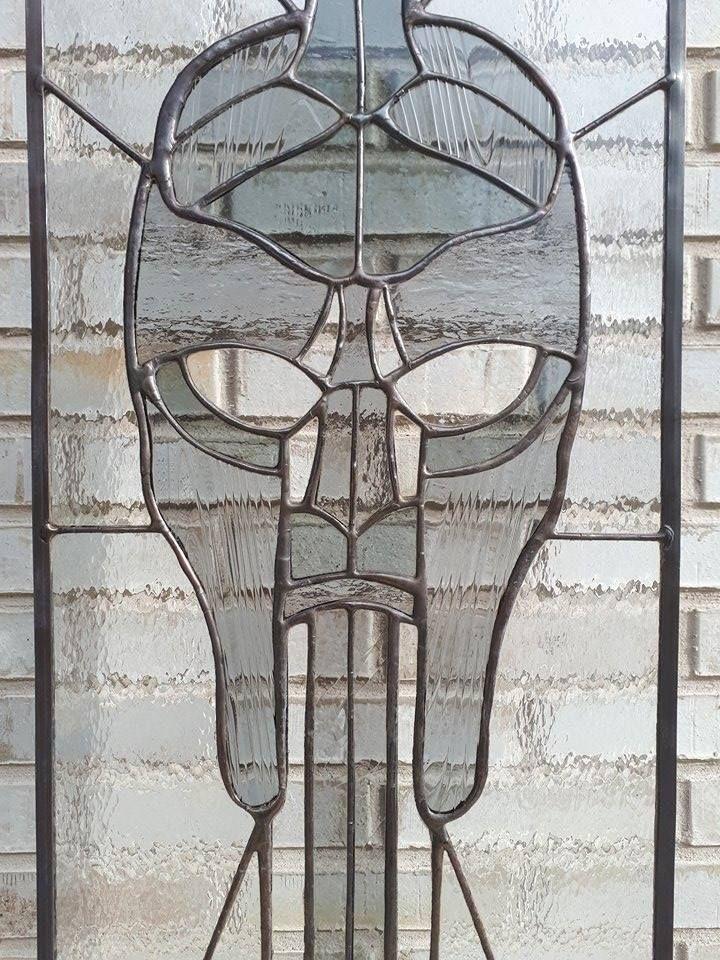 Detail ~ Logo ~ Stained Glass ~ Tiffany ~ Grey ~ArrowGlass