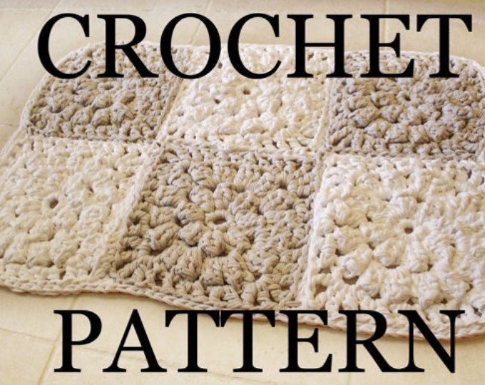 crochet rug pattern, granny square pattern, crochet rug tutorial, tshirt yarn, bathroom mat, bathroom rugs, modern rugs