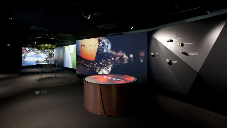 New experiential showroom for Outotec. Pentagon Design is responsible for the showroom's concept and interior design.