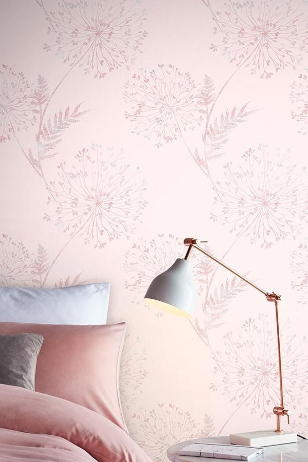 Wish By Graham Brown Blush Wallpaper Grey Wallpaper Bedroom Pink Wallpaper Bedroom Bedroom wallpaper ideas pink and grey