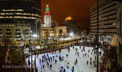 Ice Rink in Downtown Buffalo, NY <3