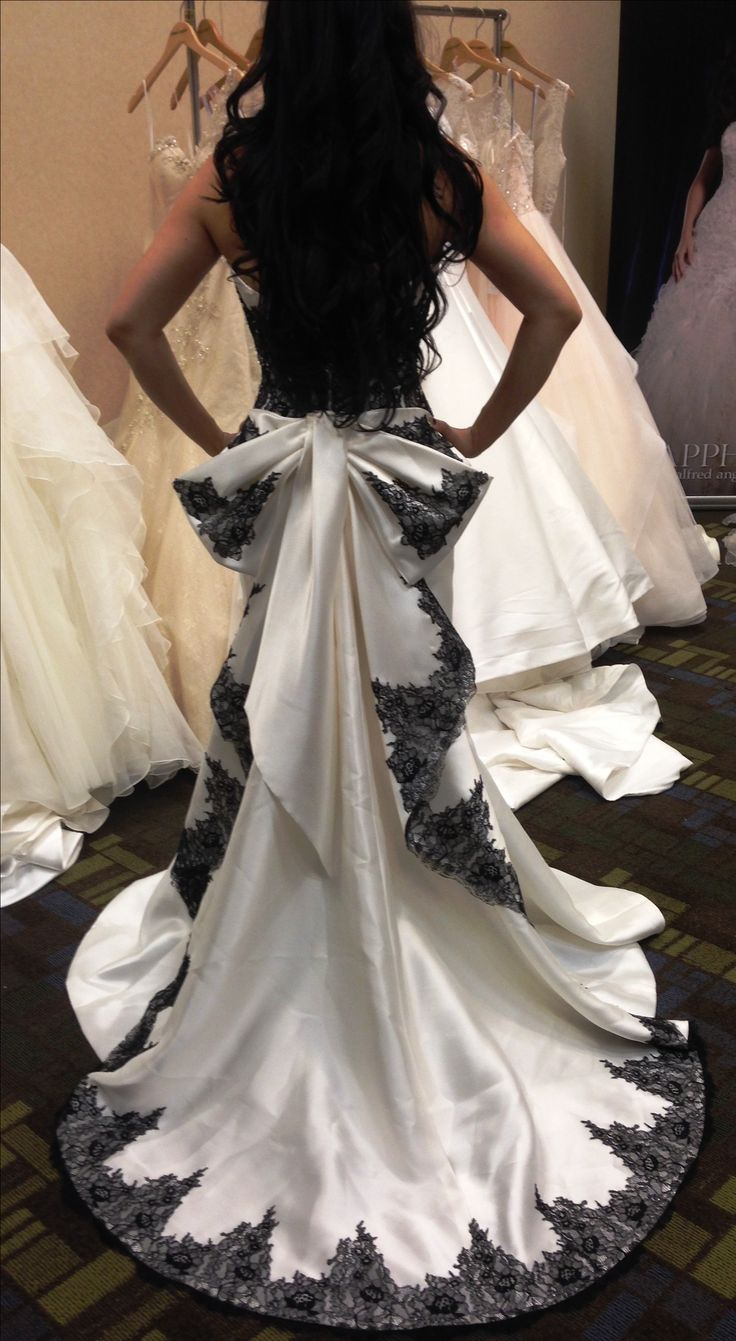 1000 images about wedding dresses on pinterest for Alfred angelo black and white wedding dress