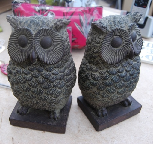 Owl Bookends from Gisela graham.  Aren't they cute ?