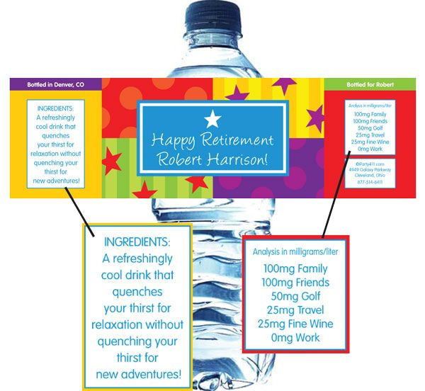 75 Best Images About Water Bottle Labels On Pinterest: 123 Best Images About Office Retirement Party Ideas On