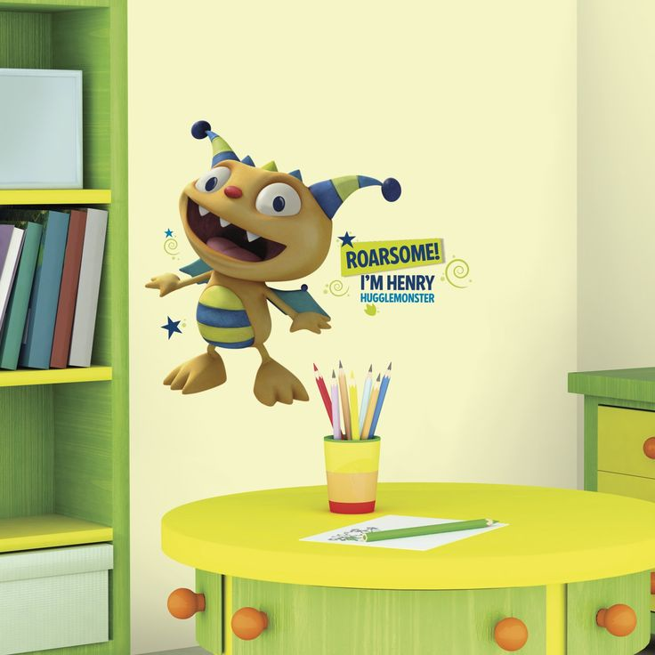 Roommates Henry Hugglemonster Peel and Stick Giant Wall Decals