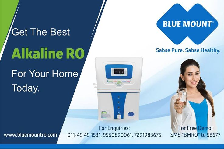 "Get The Best Alkaline RO For Home Today. #WaterPurifier #BestAlkalineROWaterPurifier For Enquiries: 011-49491531,9560890061,7291983675 For Free Demo: SMS ""BMRO"" to 56677 Request for a free demo : goo.gl/WFGS7h"
