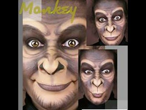 Monkey makeup, maquillaje de mono, trucco scimmia - YouTube