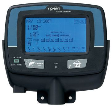 Orbit 57932 12 Station Zone Indoor Touch Screen Sprinkler Timer Water Controller - traditional - Sprinklers - Timers Plus LLC