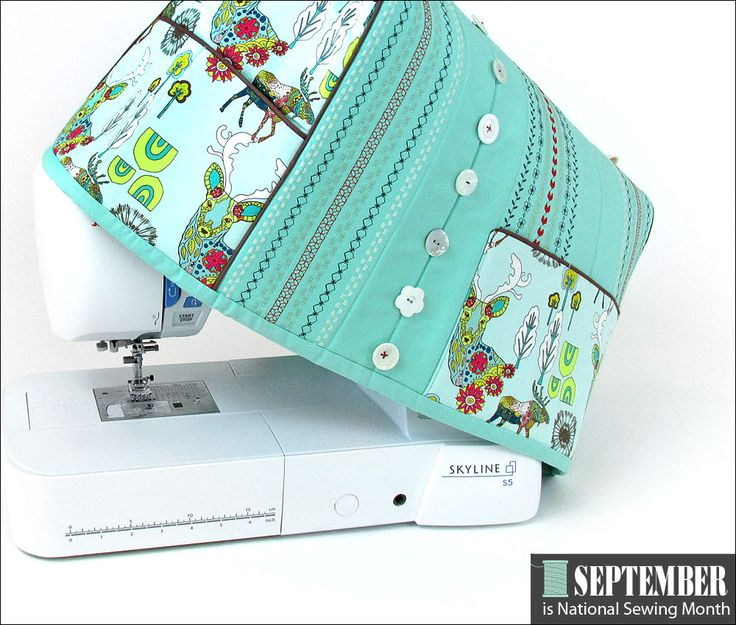 Couture Couverture de la machine avec coutures décoratives Accents: Il est le Mois national de couture! | Sew4Home