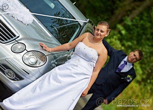 Krásné bílé svatební šaty - 1