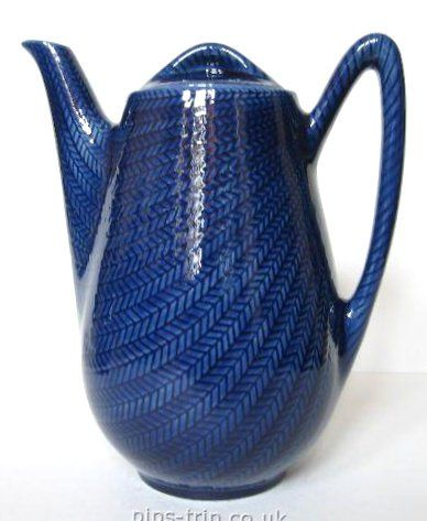 Rorstrand (Sweden) 'Bla Eld' (Blue Fire) Coffee Pot