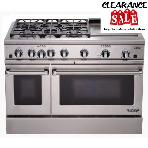 #sale This #DCS Dual Fuel Range features (3) 15,000 BTU gas burners, (2) 12,500 BTU gas burners, 26,000 BTU griddle and electric oven. The DCS Dual Fuel Range pa...