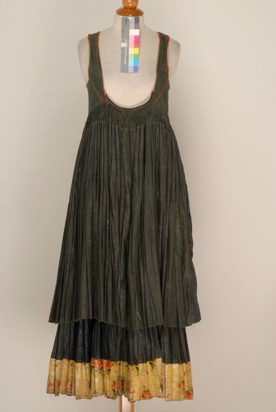 Dark coloured sleeveless foustani (dress) from Psara Island