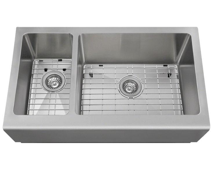 407R Offset Apron Sink  Cheap Farmhouse Sink
