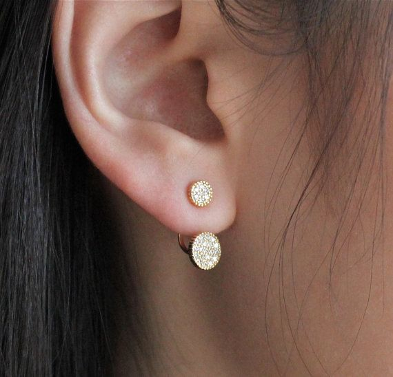 Simple and Beautiful Ear Cuff Double Circle Jacket. by xylofone