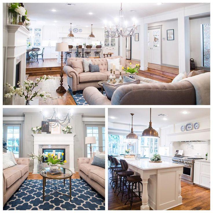 Magnolia wife mom renovator designer shop owner for Upper living room designs