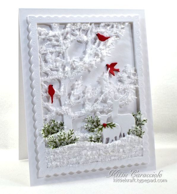 Tree Frame, Deer Trio, Bird Set, Fir Sprigs
