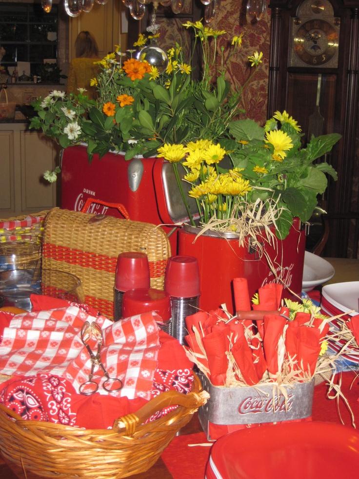 used family vintage picnic memorabilia for an indoor. Black Bedroom Furniture Sets. Home Design Ideas