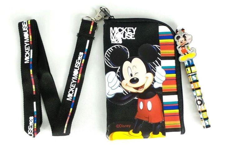 Disney mickey mouse lanyard fastpass id ticket phone