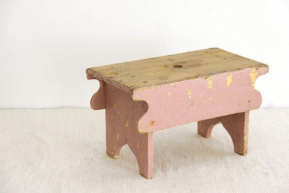Vintage Wooden Stool 47