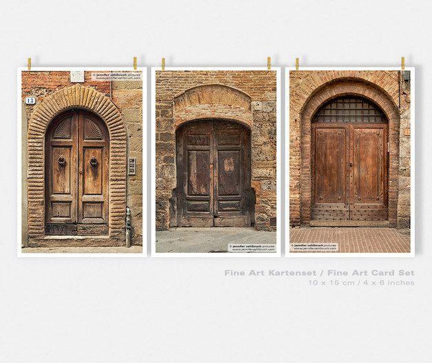 "Fine Art Karten-Set ""Italiens alte Türen"""