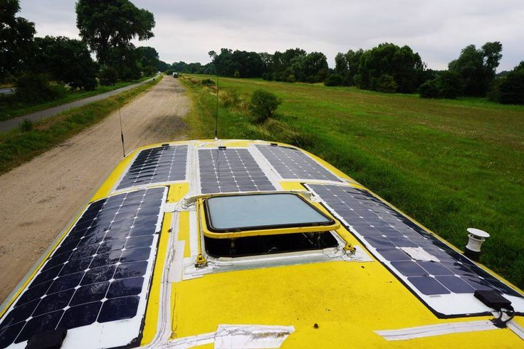 Solar Panels outside of a solar powered mobile recording studio.  #SolarPanels #Solar #Powered #Mobile #Recording #Studio #DIY #SolarPanels
